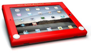"Illustration for article titled Official Etch-A-Sketch iPad Case Makes ""Shake To Undo"" More Obvious"