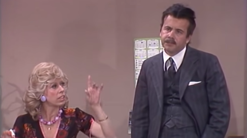 """Illustration for article titled Tim Conway was equally great as the straight man in Carol Burnett's """"Mrs. Wiggins"""" sketches"""