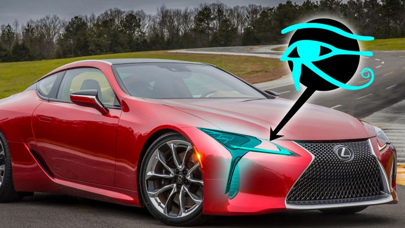 Illustration for article titled Why Is Lexus Incorporating Ancient Egyptian Symbols Into The LC 500?