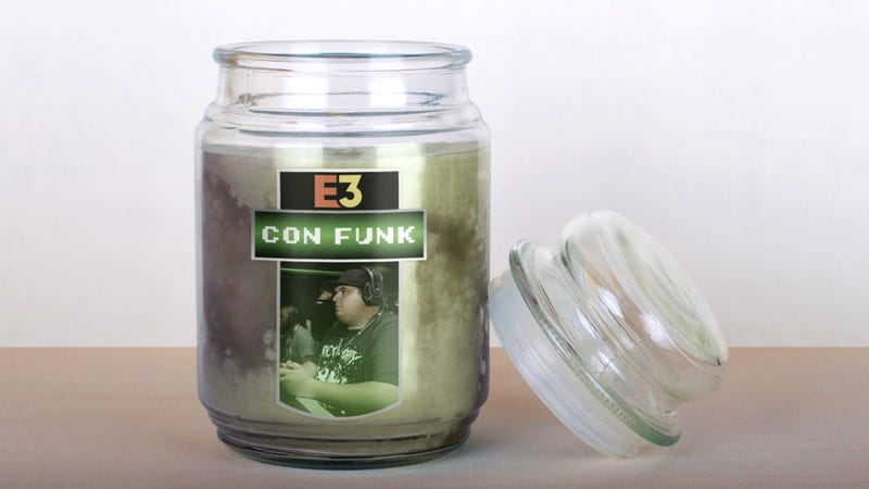 Illustration for article titled E3 Now Selling 'Con Funk' Scented Candle For Gamers Who Want To Take Convention Experience Home With Them