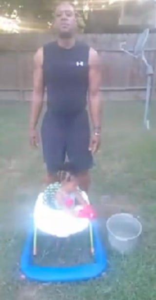 Reggie Stewart and granddaughter Ariyah DalcourFacebook screenshot