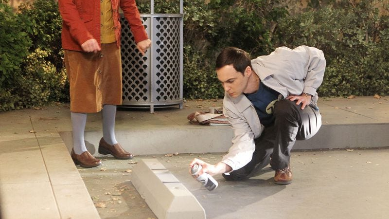 """Illustration for article titled The Big Bang Theory: """"The Parking Spot Escalation"""""""