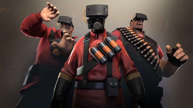 Illustration for article titled Apparently, Virtual Reality In Team Fortress 2 Can Be Very Intense