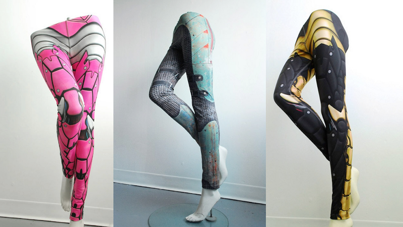 Illustration for article titled These robotic armor leggings will bring out your inner cyborg