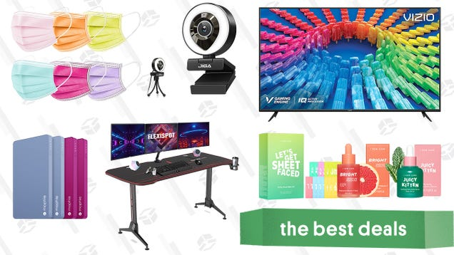 Sunday s Best Deals: Vizio 50-inch 4K Smart TV, Ring Light Webcam, I Dew Care K-Beauty Products, Mophie Power Banks, Flexispot Gaming Desk, and More