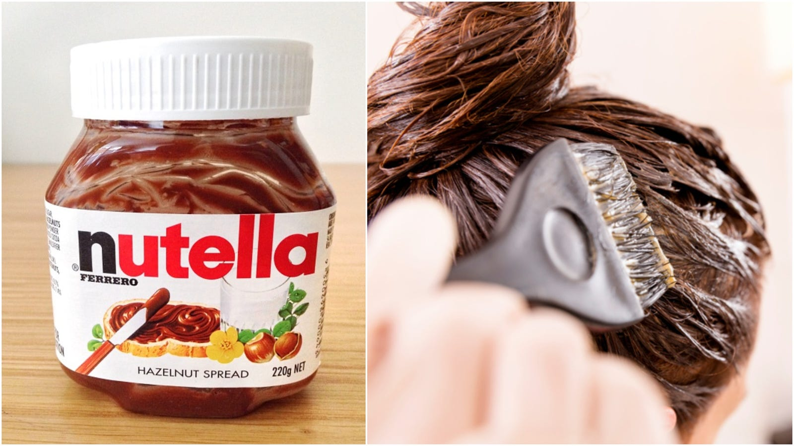 Does dyeing your hair with Nutella actually work?