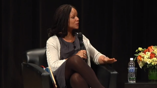 """Melissa Harris-Perry in """"Black Female Voices: A public dialogue between bell hooks and Melissa Harris-Perry""""YouTube"""