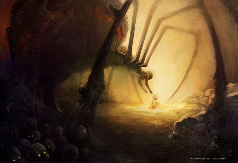 Illustration for article titled Concept Art Writing Prompt: The Spidermother