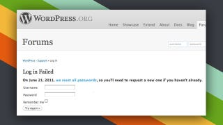 Illustration for article titled Remains of the Day: WordPress.org Resets User Passwords After Attempted Plugin Hack