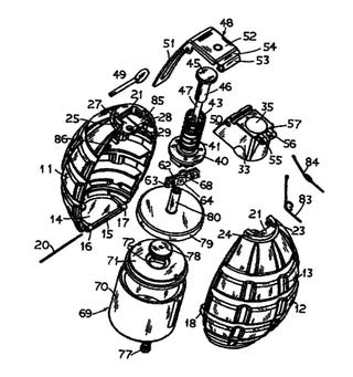 Illustration for article titled Exploding Dye Toy Grenade Patented, Parents Nervous Already