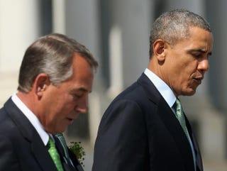 Speaker of the House John Boehner and President Barack ObamaMark Wilson/Getty Images