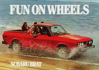 Illustration for article titled Why Not Subaru BRaT?