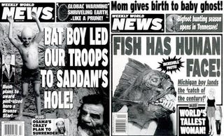 Illustration for article titled Alien Cheerleaders Marry Sergey Brin: Google Embraces Weekly World News