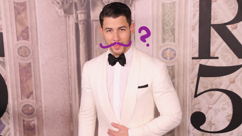 Illustration for article titled Can You Find Nick Jonas's Mustache?
