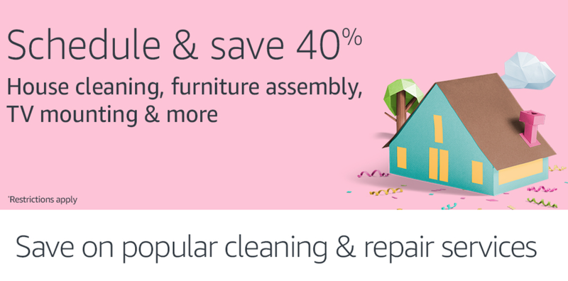 40% off home services for Prime members