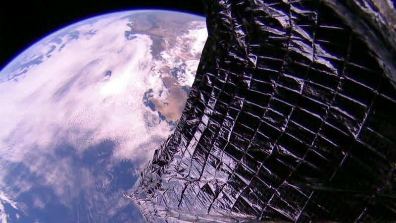 LightSail 2 over Baja, California.