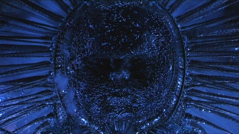 The machine god from The Matrix Revolutions