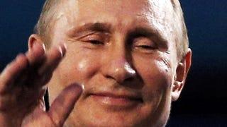 Illustration for article titled Nézzék, milyen boldog Vlagyimir Putyin!