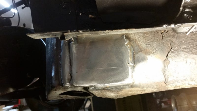 Not my best welds, but not bad for laying on the floor either