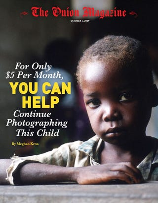 Illustration for article titled For Only $5 Per Month, You Can Help Continue Photographing This Child