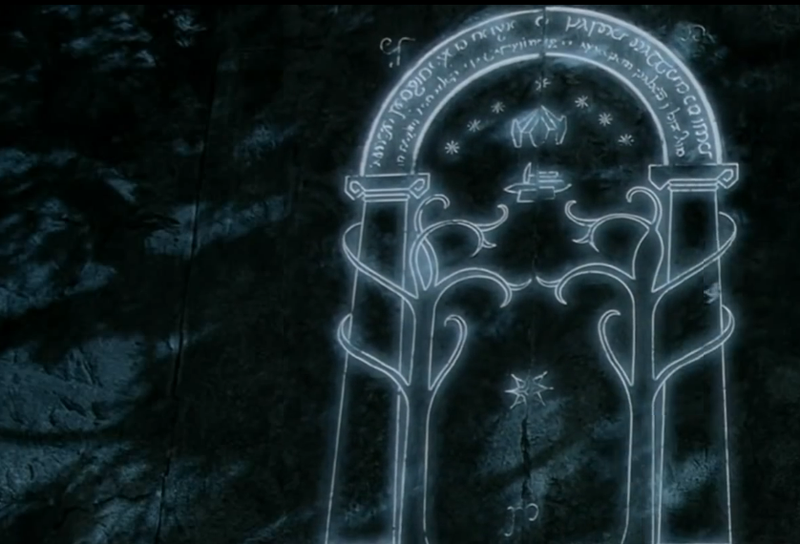 The lord of the rings 39 door of durin 39 is now a reality for Porta hobbit
