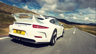 Illustration for article titled As we all know, Hammond took delivery of a Carrera White 991 GT3.