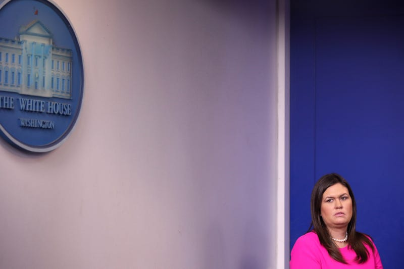 Illustration for article titled Trump Told Sarah 'Suckabee' Sanders to Stop Holding Briefings Because the Press Pushes Back on Her Lies