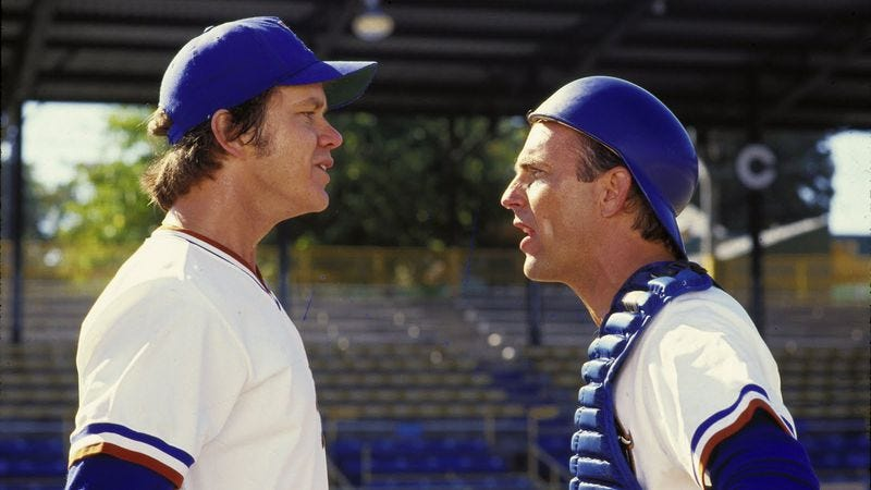 Illustration for article titled Why Bull Durham is the greatest baseball movie ever made