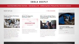 "Illustration for article titled ""Ebola Deeply"" Provides Non-Alarmist News on the Current Situation"