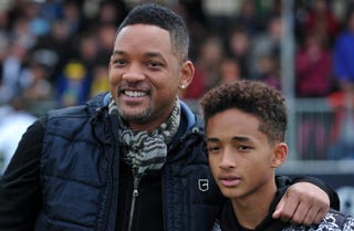 Will Smith and his son, Jaden SmithCARL COURT/AFP/Getty Images