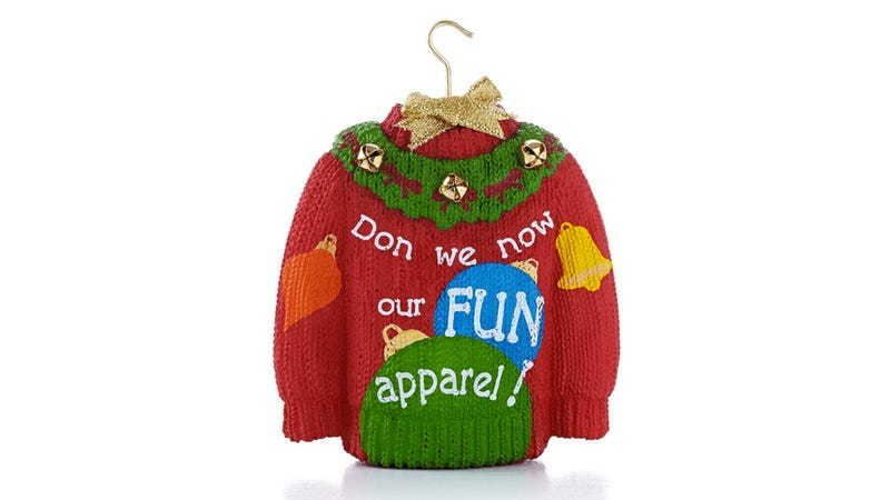 Illustration for article titled Hallmark Christmas Ornament Changes 'Gay Apparel' to 'Fun Apparel'