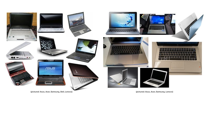 Illustration for article titled What Laptops Looked Like Before and After the MacBook Air