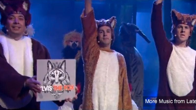 "Illustration for article titled Norwegian band Ylvis brought ""The Fox"" to Late Night With Jimmy Fallon last night, and it was super weird"