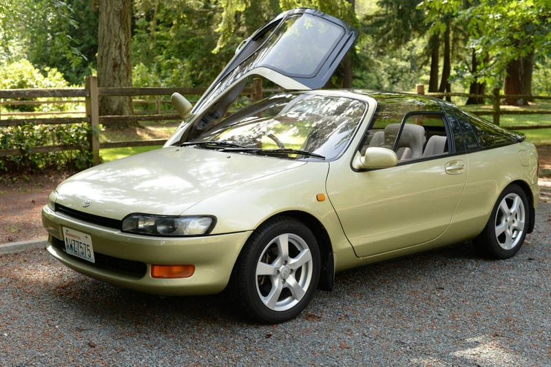 Illustration for article titled This Imported Toyota Sera Could Totally Be Your Kid's First Car