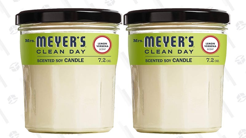 Mrs. Meyer's Clean Day Lemon Verbana Soy Candle 2-Pack | $12 | Amazon | Clip the 20% coupon