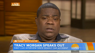 Illustration for article titled Tracy Morgan's Tearful Post-Crash Interview: 'I Can't Believe I'm Here'