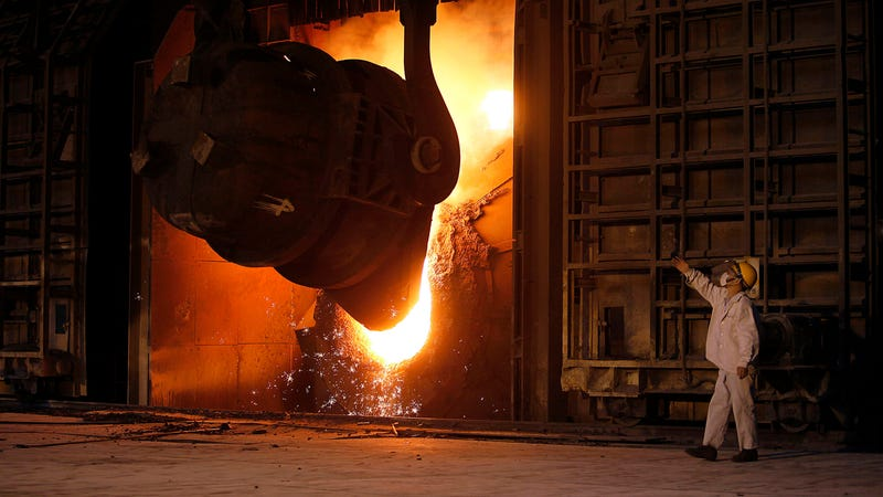 A steel mill in China.