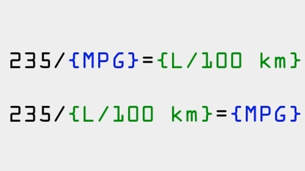 How to convert mpg to l100 km in your head nvjuhfo Images