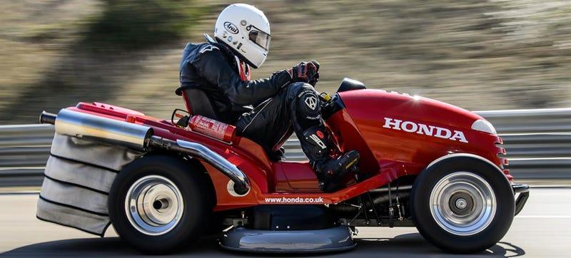 Watch And Hear Honda S 1000cc Lawn Mower Hit 130 Mph