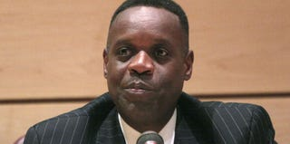 Detroit Emergency Manager Kevyn Orr at a recent hearing (Bill Pugliano/Getty Images)