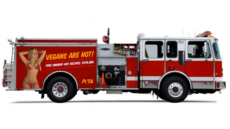 Illustration for article titled PETA Wants To Put Bikini-Clad Vegans On Baltimore Fire Trucks