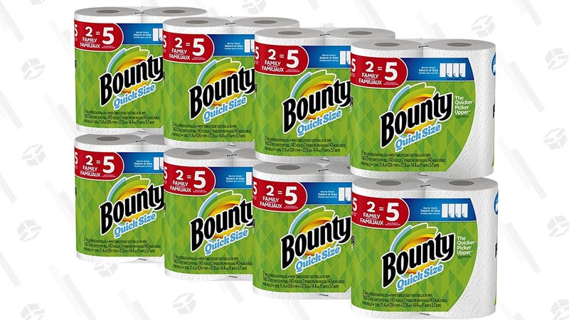 Bounty Quick Size Paper Towels 12-Pack | $24 | Amazon | Clip the $5 couponBounty Quick Size Paper Towels 16-Pack | $30 | Amazon | Clip the $5 coupon