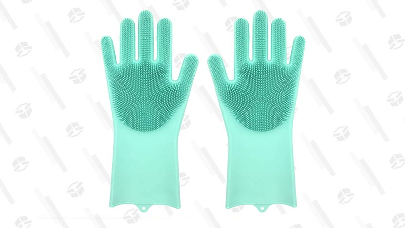 Magic Silicone Dishwashing Gloves with Scrubber | $6 | Amazon