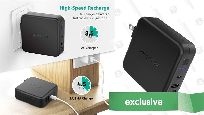 RAVPower 6700mAh Battery Pack/Wall Charger Combo | $20 | Amazon | Promo code KINJA802