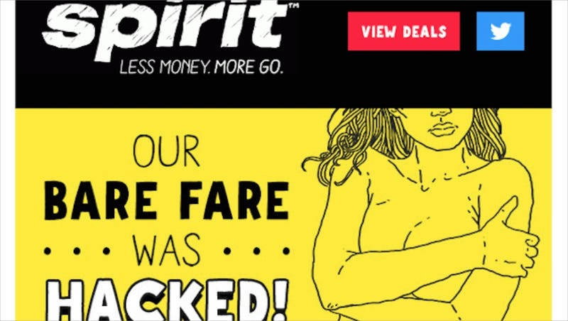 Illustration for article titled Spirit Airlines Sends Promotional Email Joking About Celebrity Nudes