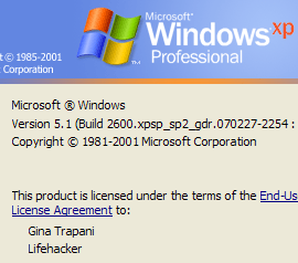 Illustration for article titled Change Your PC's Registered Owner in Windows