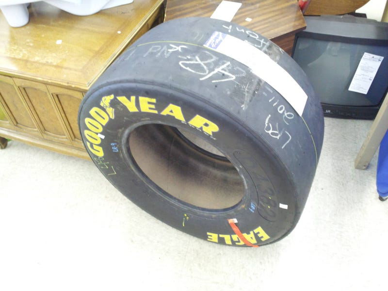 Illustration for article titled Redditor finds a NASCAR tire at a Goodwill.....