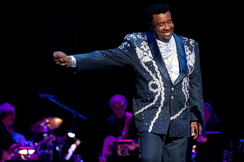 Dennis Edwards performs at the Rock and Roll Hall of Fame tribute concert honoring Aretha Franklin during the 16th American Music Masters Tribute at PlayhouseSquare's State Theatre on Nov. 5, 2011, in Cleveland. (Jason Miller/Getty Images for Rock and Roll Hall of Fame)