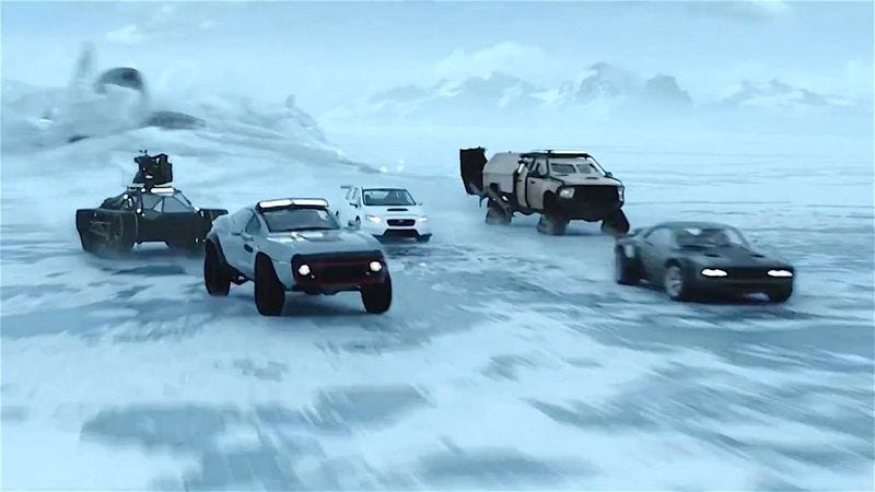 The North or South Pole or wherever this is is enough of a stretch, it seems (Fate Of The Furious)