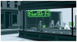 Illustration for article titled Wi-Fihawks at the Diner